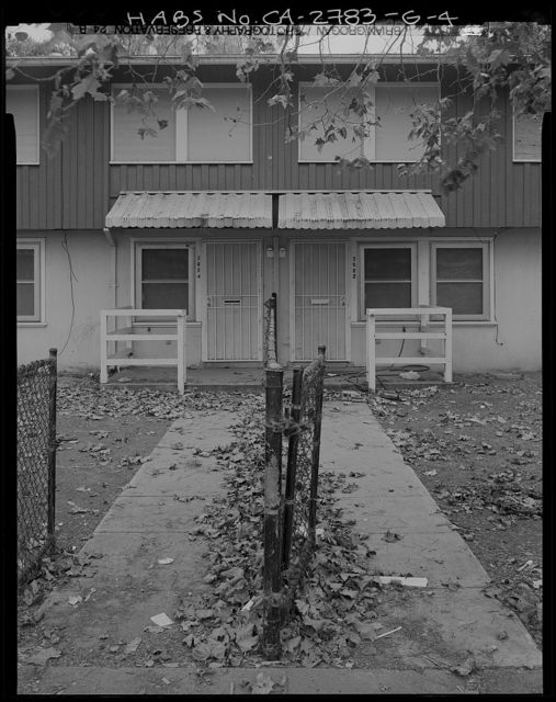 Easter Hill Village, Building No. 14, South side of Hinkley Avenue, opposite South Twenty-Sixth Street, Richmond, Contra Costa County, CA