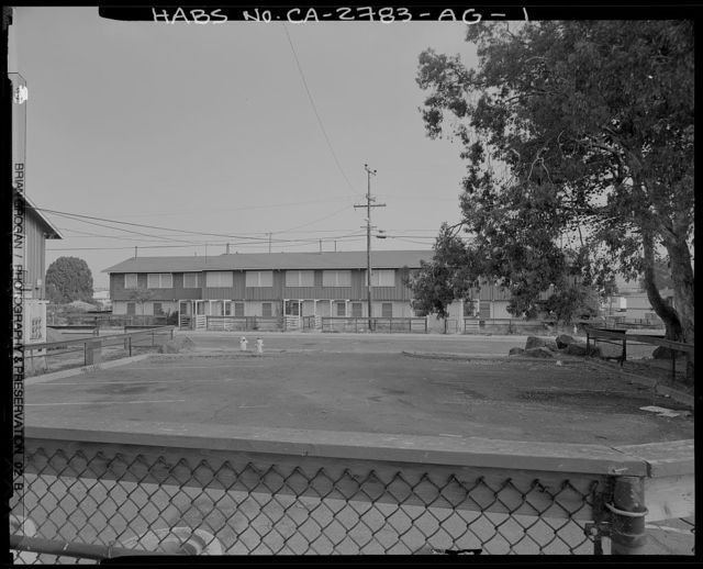Easter Hill Village, Building No. 40, North side of Foothill Avneue, west of South Twenty-eighth Street, Richmond, Contra Costa County, CA