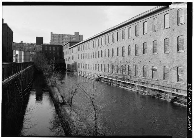 Eastern Canal, Boott Penstock, Between Eastern & Merrimack Canals, Lowell, Middlesex County, MA