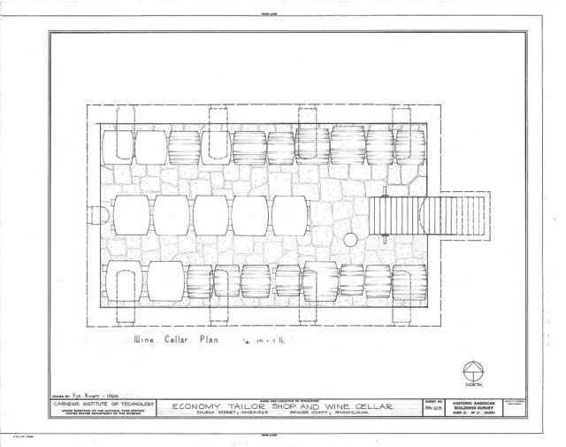 Economy Tailor Shop & Wine Cellar, Church Street, Ambridge, Beaver County, PA