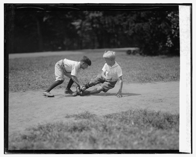 Eddie Johnson (sliding) and Frank Corrado, 8/25/25