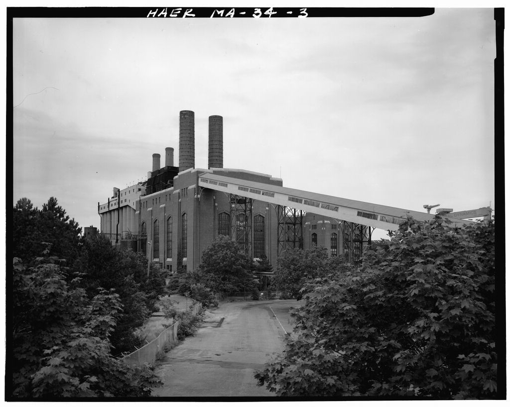 Edison Electric Illuminating Company, Charles L. Edgar Station, Bridge Street at Fore River, Weymouth, Norfolk County, MA