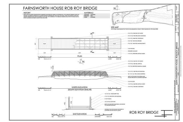 Edith Farnsworth House, Rob Roy Bridge, 14520 River Road, Plano, Kendall County, IL