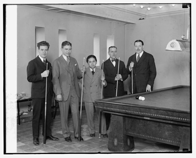 Edouard Horsmans, Bedgem, Welker Cochran, Kinrey Matsuyama, Willie Hoppe, Felix Grange, 3/1/27
