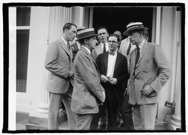 Edw. T. Clark & newspapermen, 7/8/24