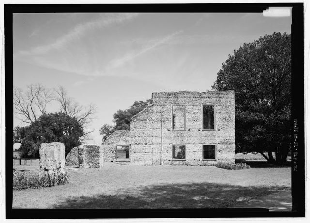 Edward House & Dependencies (Ruins), Old House Road, Spring Island, Pinckney Landing, Beaufort County, SC