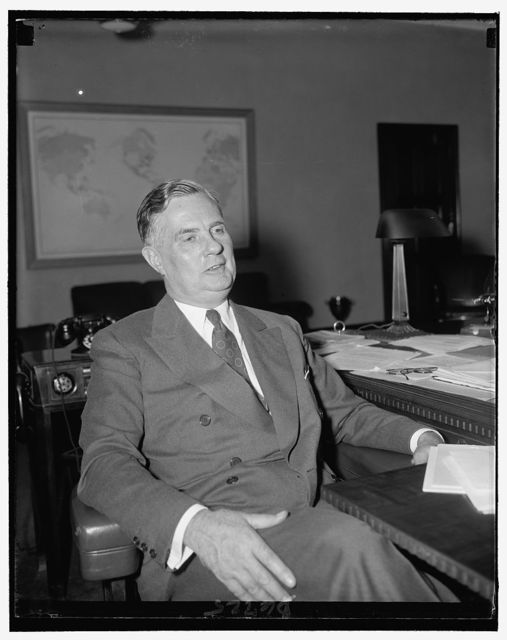 Edward J. Noble, Commerce Secy. Harry Hopkins' newly appointed Exec. Secy.
