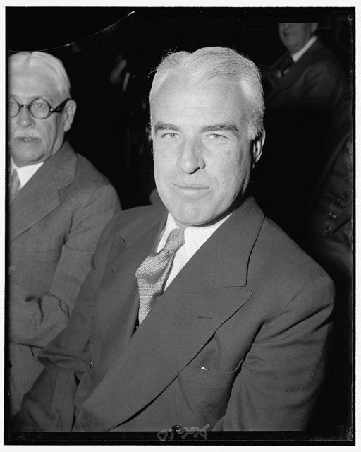 Edward R. Stettinius, Chairman of U.S. Steel, testifying before Monopoly Committee