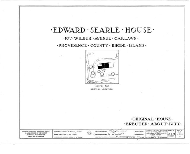 Edward Searle House, 107 Wilbur Avenue, Oaklawn, Providence County, RI