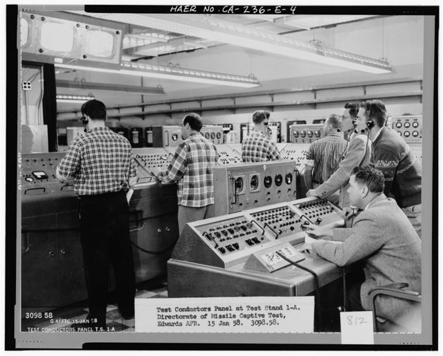 Edwards Air Force Base, Air Force Rocket Propulsion Laboratory, Control Center, Test Area 1-115, near Altair & Saturn Boulevards, Boron, Kern County, CA