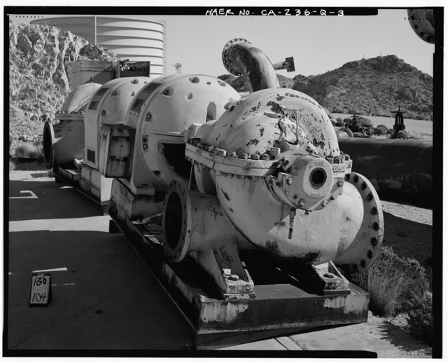 Edwards Air Force Base, Air Force Rocket Propulsion Laboratory, Flame Deflector Water System, Test Area 1-120, north end of Jupiter Boulevard, Boron, Kern County, CA