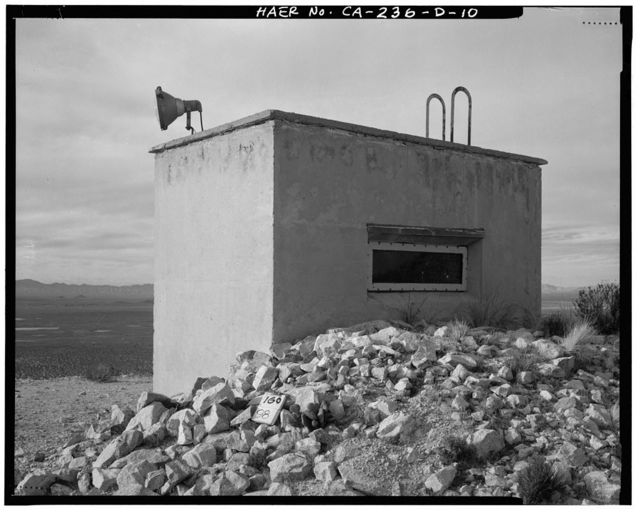 Edwards Air Force Base, Air Force Rocket Propulsion Laboratory, Observation Bunkers for Test Stand 1-A, Test Area 1-120, north end of Jupiter Boulevard, Boron, Kern County, CA