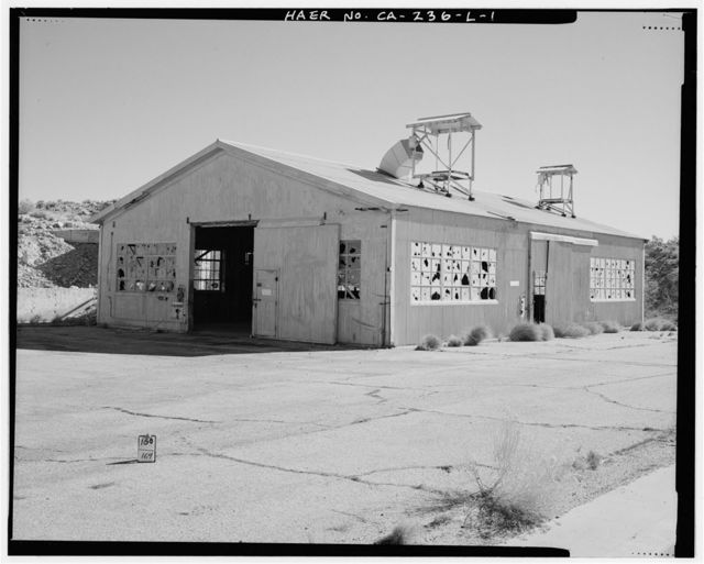 Edwards Air Force Base, Air Force Rocket Propulsion Laboratory, Shop Building for Test Stand 1-5, Test Area 1-115, northwest end of Saturn Boulevard, Boron, Kern County, CA