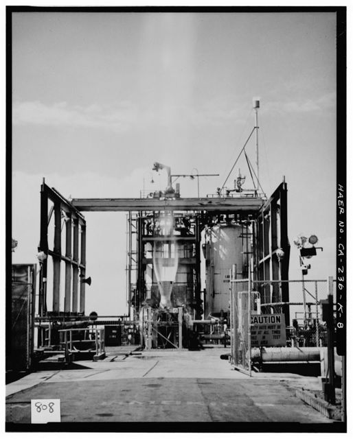 Edwards Air Force Base, Air Force Rocket Propulsion Laboratory, Test Stand 1-5, Test Area 1-115, northwest end of Saturn Boulevard, Boron, Kern County, CA