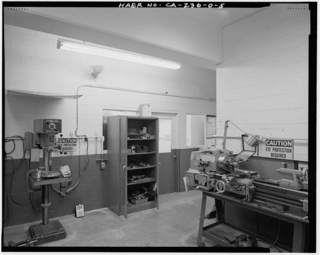 Edwards Air Force Base, Air Force Rocket Propulsion Laboratory, Test Stand 1-A Terminal Room, Test Area 1-120, north end of Jupiter Boulevard, Boron, Kern County, CA