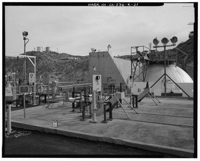 Edwards Air Force Base, Air Force Rocket Propulsion Laboratory, Test Stand 1-A, Test Area 1-120, north end of Jupiter Boulevard, Boron, Kern County, CA