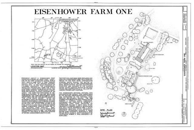 Eisenhower Farm One, Emmitsburg Road (U.S. 15), Eisenhower National Historic Site, Gettysburg, Adams County, PA