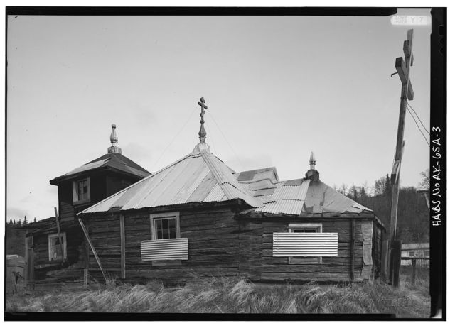 Elevation of Holy Cross Russian Orthodox Church (Old), Russian Mission, Wade Hampton Census Area, AK