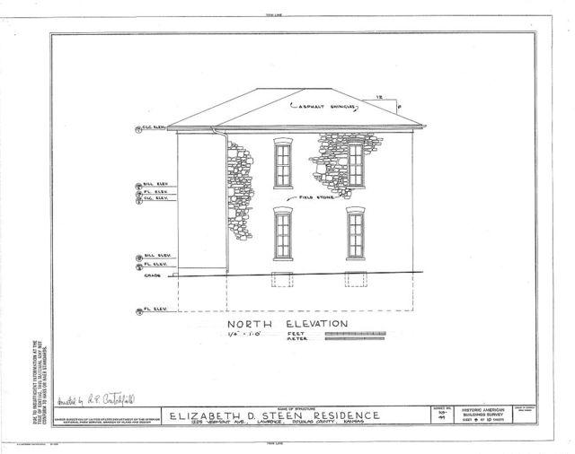Elizabeth D. Steen House, 1225 Vermont Avenue, Lawrence, Douglas County, KS