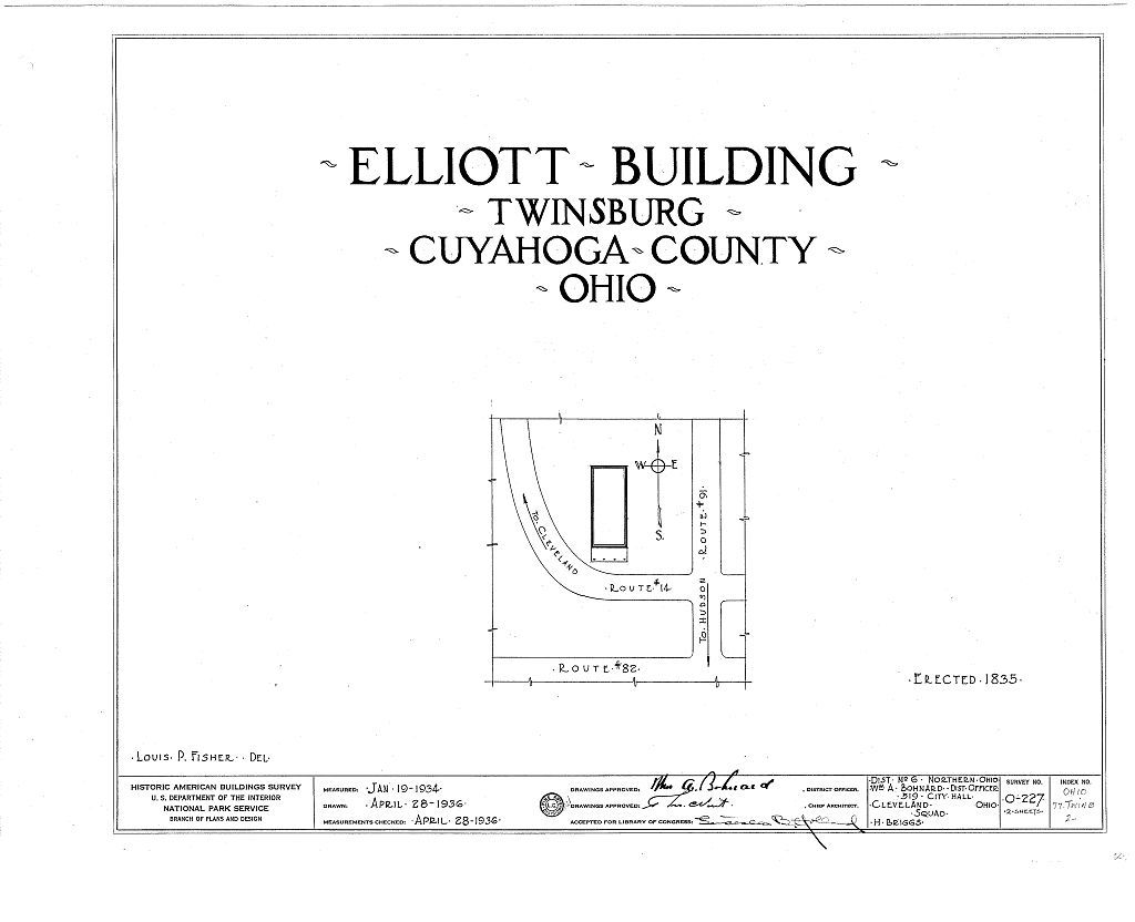 Elliott Building, Route 14, Twinsburg, Summit County, OH