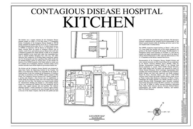 Ellis Island, Contagious Disease Hospital Kitchen, New York Harbor, New York, New York County, NY