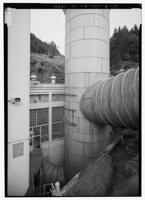 Elwha River Hydroelectric System, Elwha Hydroelectric Dam & Plant, Port Angeles, Clallam County, WA