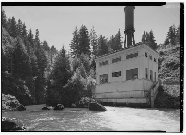 Elwha River Hydroelectric System, Glines Hydroelectric Dam & Plant, Port Angeles, Clallam County, WA