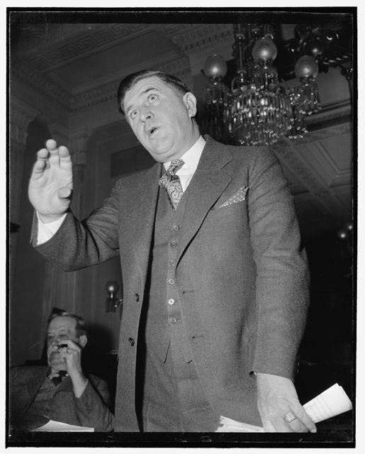 Endorses 1938 A.A.A. Farm Program. Washington, D.C., Jan. 9. Southern cotton farmers today demanded that Congress retain the basic principles of the New Deal Farm Program but asked additional funds for benefit payments to producers. Ranson Aldridge, above, President of the Mississippi Farm Bureau federation, told a group of Senators and Representatives that we feel that in the frame work of the 1938 A.A.A. we have a program that can be made to work, 1/9/39