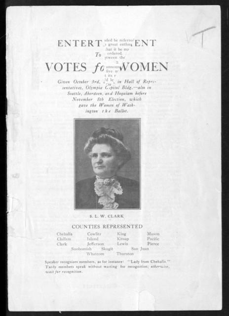 Entertainment to make votes for women...