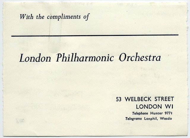 Eric Bravington [Managing Director, London Philharmonic Orchestra] to Herb Bonis, February 4, 1966