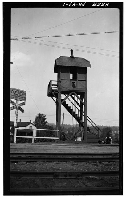 Erie Railway, Crossing Gate Tower, West side of Lincoln Street, 100 feet South of Concord Street, Union City, Erie County, PA