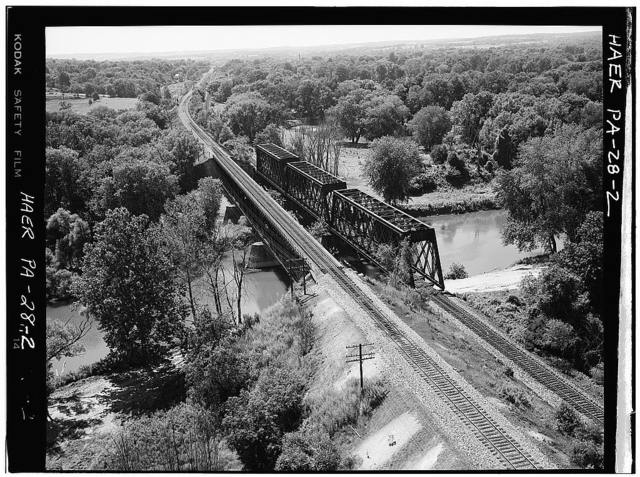 Erie Railway, Parallel French Creek Bridges, 100 feet South of Millers Station Road, 0.4 mile Northeast of State Route 408, 0.9 mile East of Cambridge Springs, Cambridge Springs, Crawford County, PA