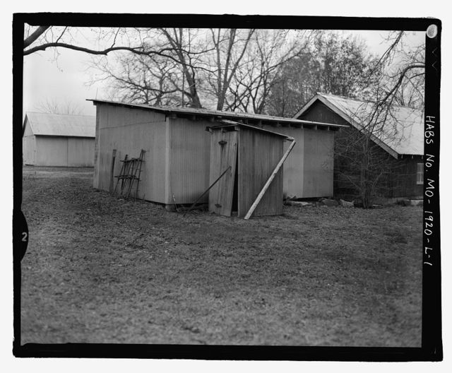 Erwin Richterkessing Farm, Privy, 4540 I-70 North Service Road, Saint Peters, St. Charles County, MO