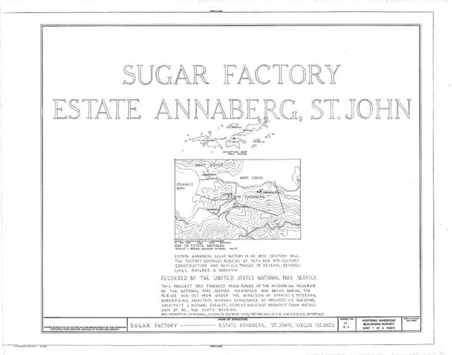 Estate Annaberg, Sugar Factory, Adrian, St. John, VI