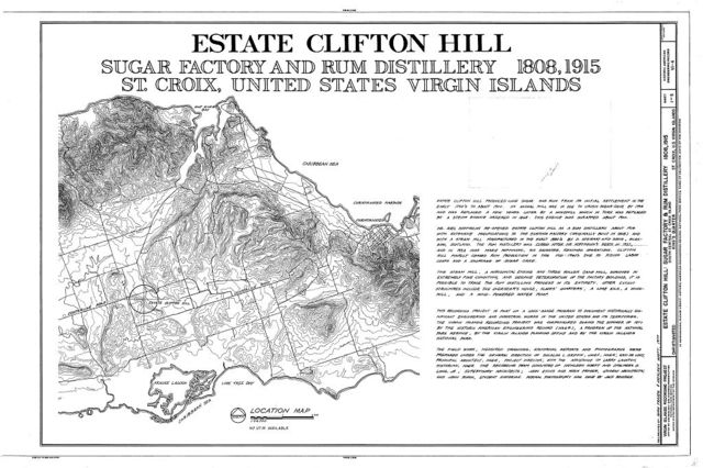 Estate Clifton Hill, Sugar Factory & Rum Distillery, South Central Street, Christiansted, St. Croix, VI