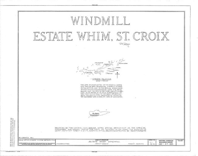 Estate Whim, Windmill, Centerline Road, Whim, St. Croix, VI