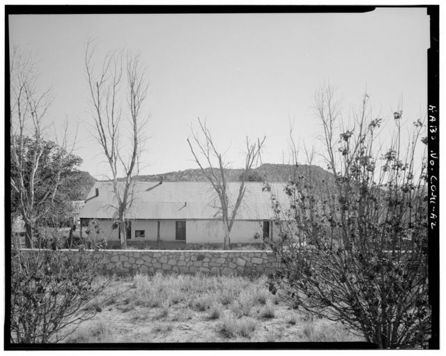 Eugene Rourke Ranch, Residence, 40 feet west of bunkhouse, Model, Las Animas County, CO