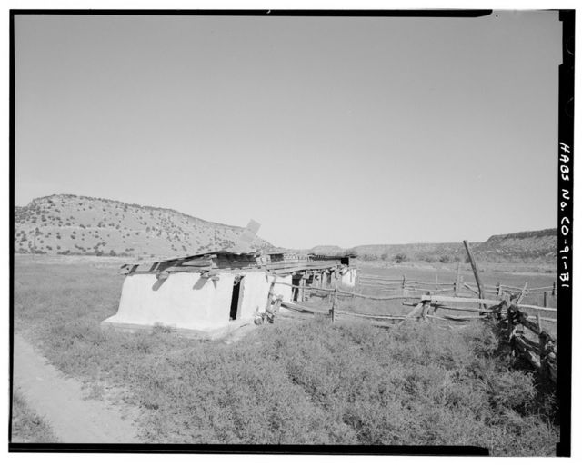 Eugene Rourke Ranch, Shed, 30 feet east of bunkhouse, Model, Las Animas County, CO