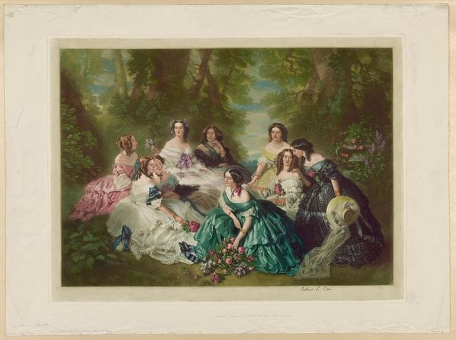 Eugénie, empress of the French and her maids of honor