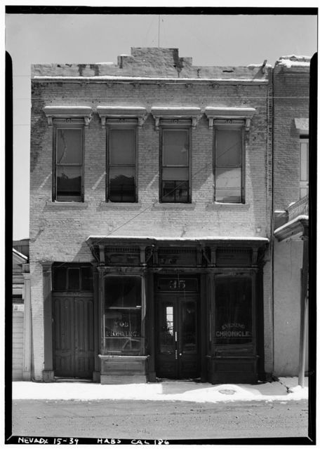 """Evening Chronicle"" Building, C Street, Virginia City, Storey County, NV"