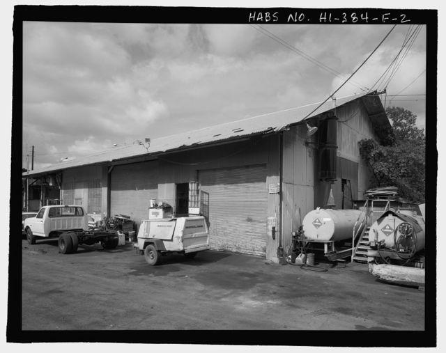 Ewa Plantation Company Industrial Center, Garage & Service Station, Honouliuli Plain, near intersection of Renton Road & Park Row, Ewa, Honolulu County, HI