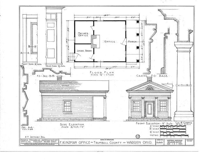 F. Kinsman Office, 303 Mahoning Avenue, Warren, Trumbull County, OH