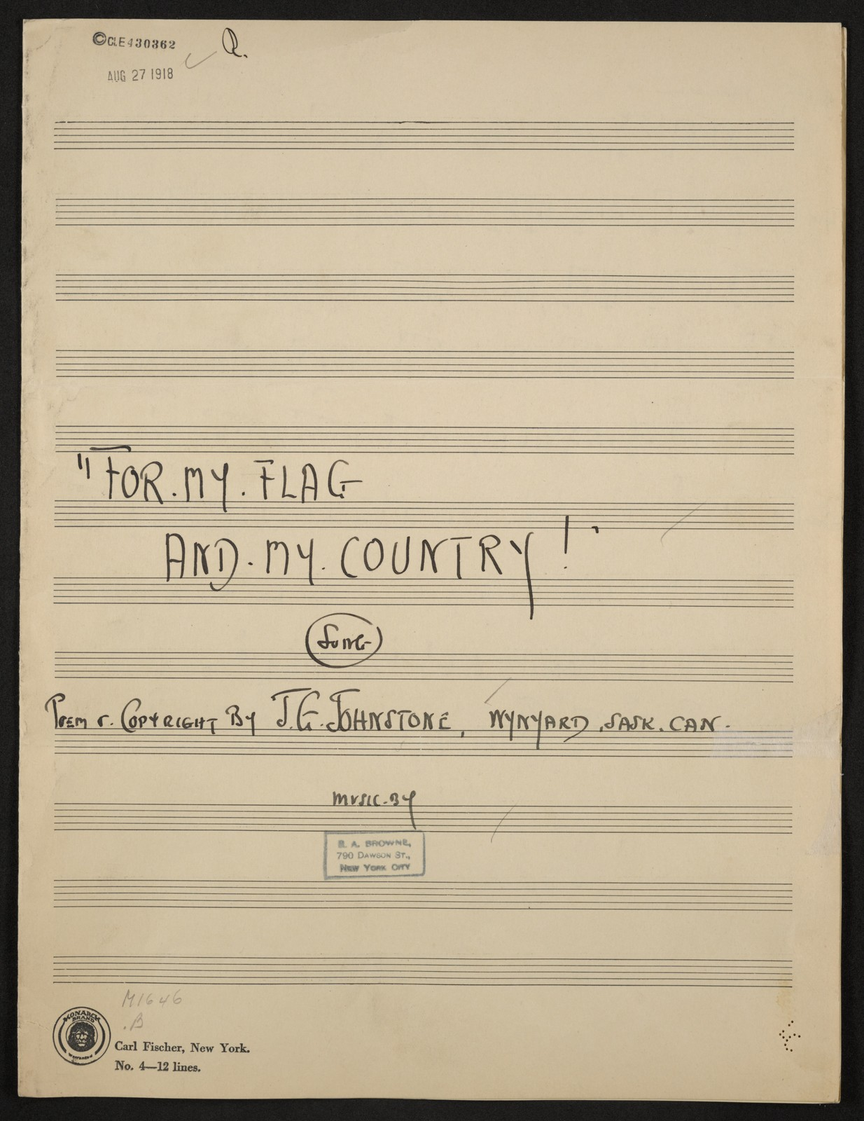 F or my flag and my country! song