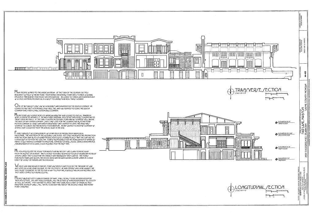 Fair Lane Mansion, 4901 Evergreen Road, Dearborn, Wayne County, MI