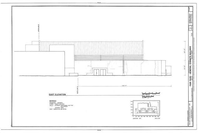 Fair Park, General Exhibits Building, Northeast of Parry & Second Avenues, Dallas, Dallas County, TX