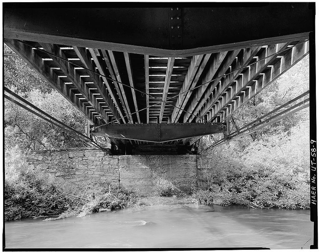 Fairmont Bridge, Spanning Ogden River in Ogden Canyon, Ogden, Weber County, UT