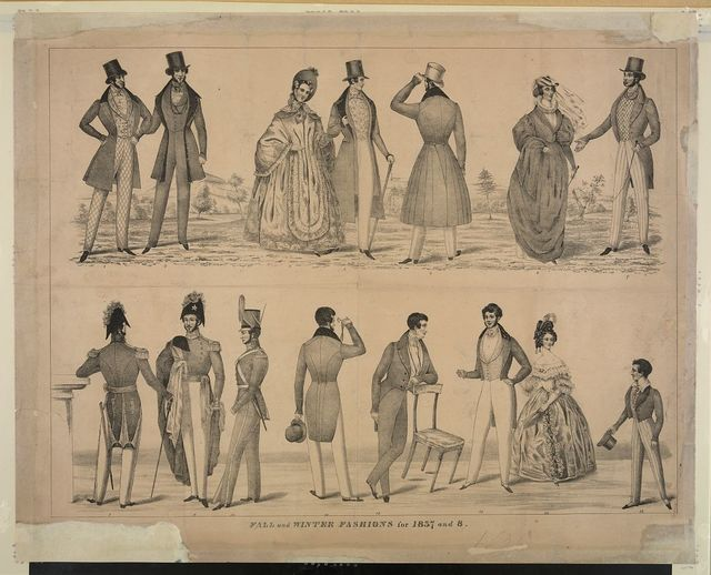 Fall and winter fashions for 1837 and 8