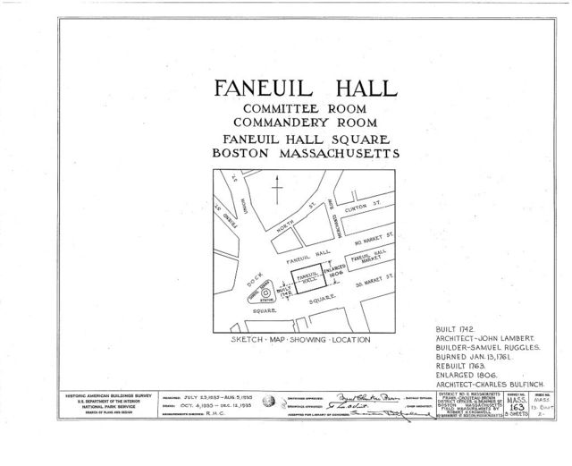 Faneuil Hall, Dock Square, Boston, Suffolk County, MA