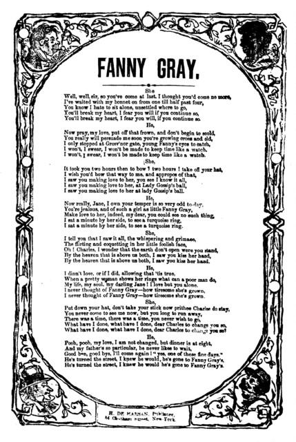 Fanny Gray. H. De Marsan, Publisher, 54 Chatham Street, N. Y