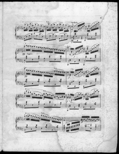 Fantaise La Straniera de Bellini, op. 9